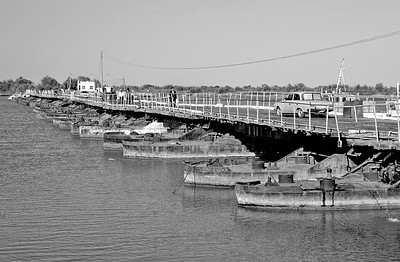 Bridge across the Amu Darya river, Karakalpakstan, Uzbekistan