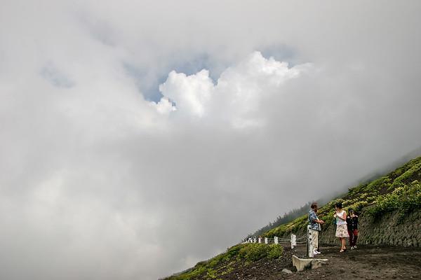 Climbing to Mt. Fuji, Japan