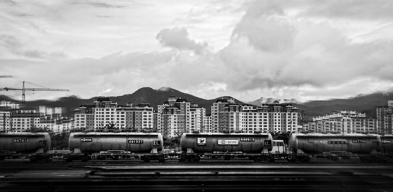 Random shot from a train window, Republic of Korea