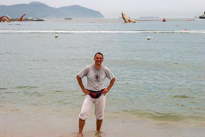 Self portrait at Songdo beach, Busan, Republic of Korea, 2010