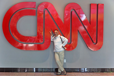 Self portrait at CNN headquarters, Atlanta, USA, 2011