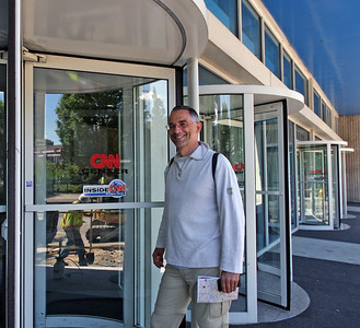 Self portrait at CNN headquarters, Atlanta, USA