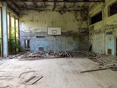 Pryp'jat', Černobyl' exclusion zone, Ukraine
