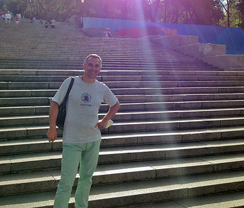 Me and the Potemkin Stairs, Odessa, Ukraine, 2012
