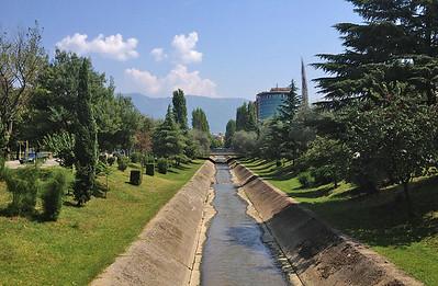 Lana river, Tirana, Albania
