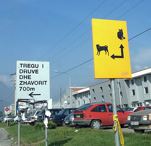 NATO road signs, Kosovo