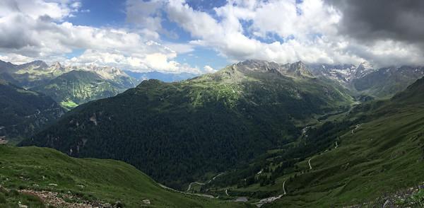 Val Passiria from Timmelsjoch, Italy