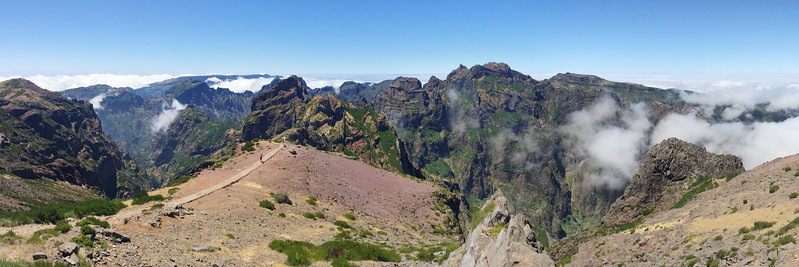 View from the summit of Pico do Arieiro, Madeira