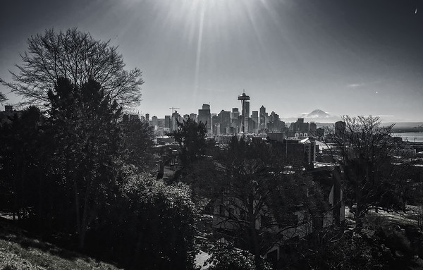 View over Seattle from Kerry Park, USA