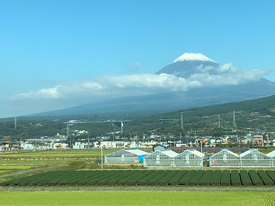 Mount Fuji from Shinkansen, Japan