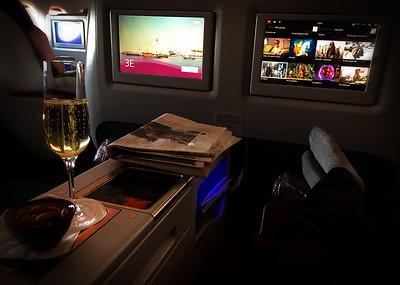 Flying to Doha, Qatar