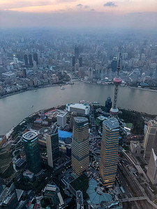 View from the Shanghai Tower, Shanghai, China