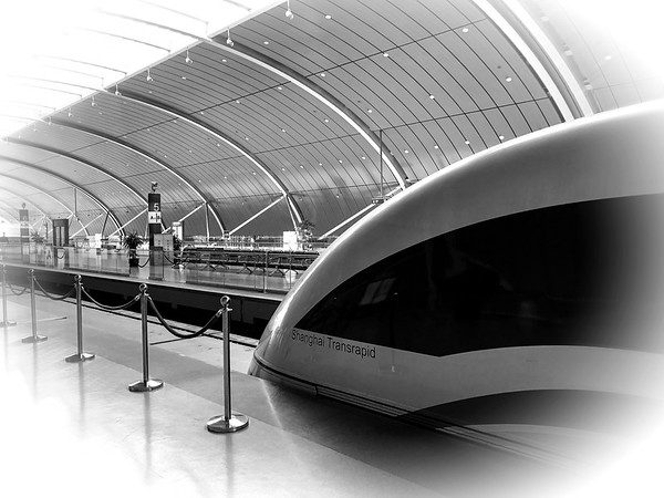 The Maglev train, Shanghai, China