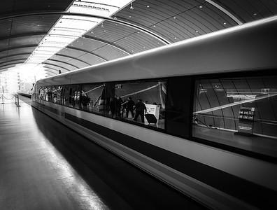 The Maglev train, Shanghai, China