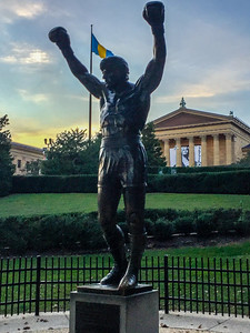 Rocky tribute, Philadelphia, PA, USA