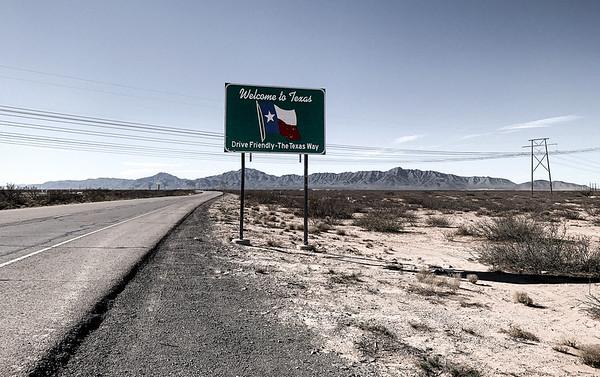 New Mexico - Texas border, USA