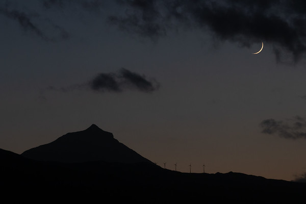 View over Mount Pico from Terra Alta, Azores