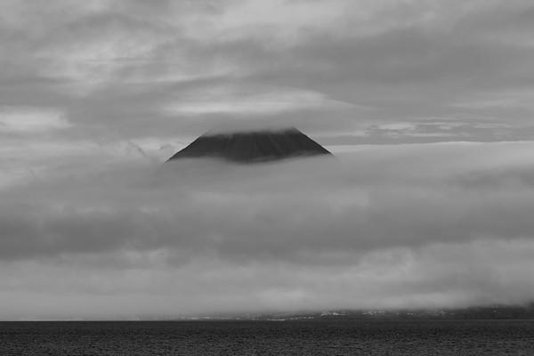 Sailing off the coast of Pico island, Azores