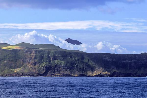 Pico appears behind São Jorge, Azores