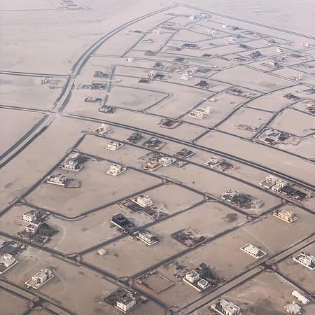 Landing in Abu Dhabi, United Arab Emirates