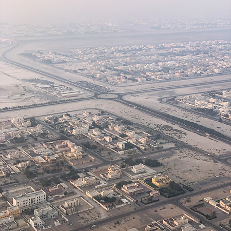 Landing in Abu Dhabi, United Arab Emirates