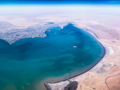 Flying over Kuwait City