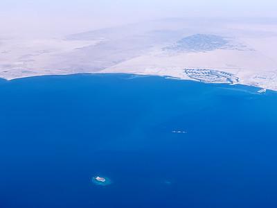 Flying over Al Khiran, Kuwait