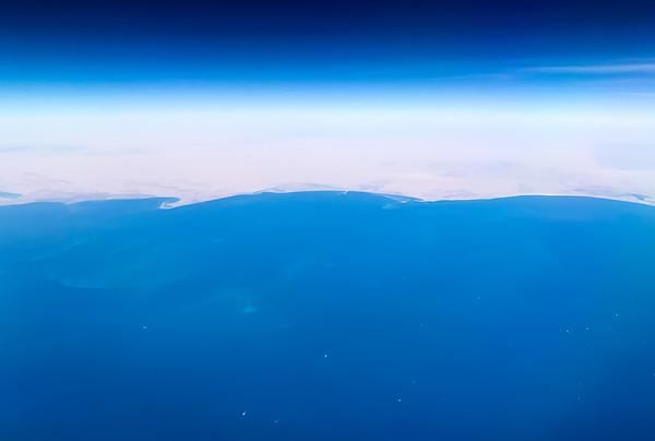 Flying over Kuwait
