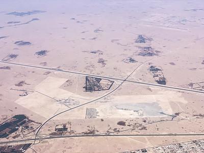 Flying over Qatar