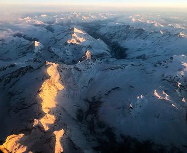 Matterhorn, flying over the Alps