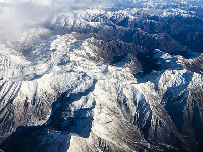 Flying over the Alps