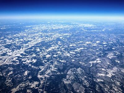 Flying over Terranova, Canada