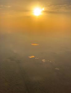 Sunset landing in Abu Dhabi, United Arab Emirates