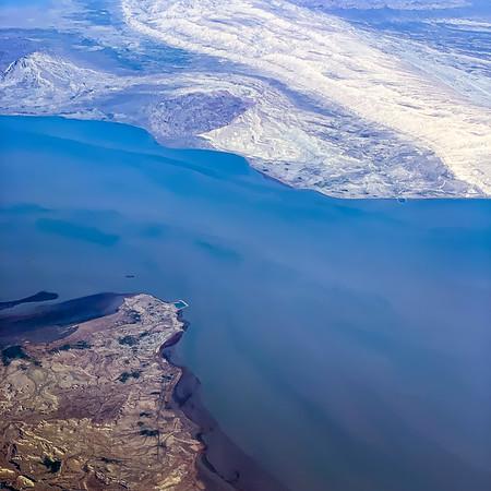 Flying over the Strait of Hormuz
