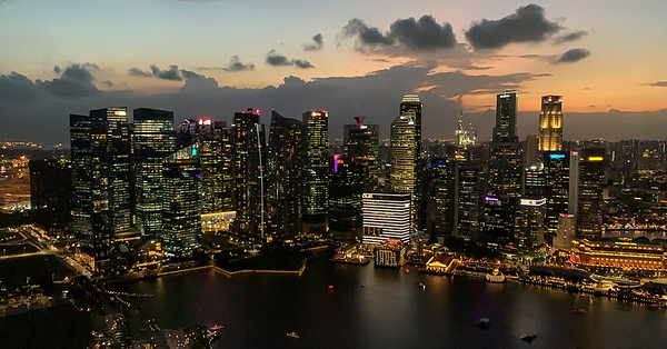 View from Marina Bay Sands, Singapore
