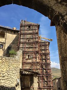 Earthquake consequence, Santo Stefano di Sessanio, Italy