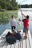 Cruzando en bote a la Isla