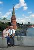 Rio Moscú y el Kremlin