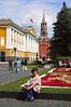 Jardines y la torre Spasskaya