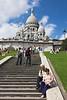 Escalera hacia el Sacré-Coeur