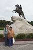 Estatua de bronze de Pedro el Grande