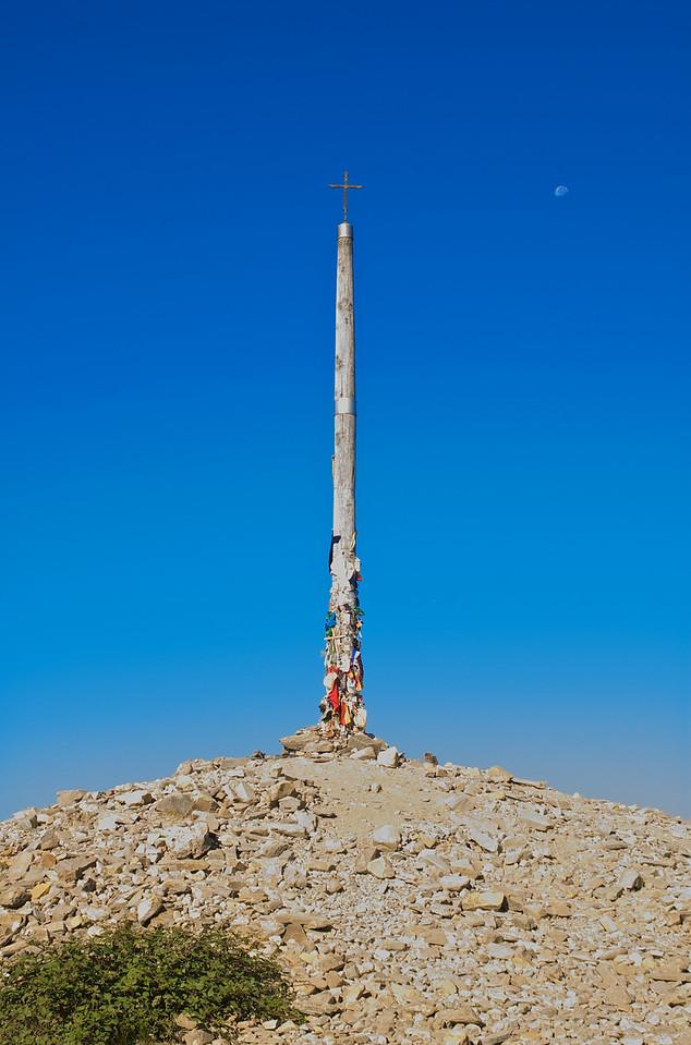 ¡La Cruz del Fierro! La subida más dura hasta ese momento, anticipo de lo que estaba por llegar.
