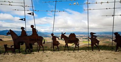 Esculturas en el Alto del Perdón.
