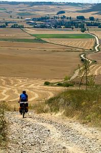 The Doctor bajando hacia Hornillos del Camino.