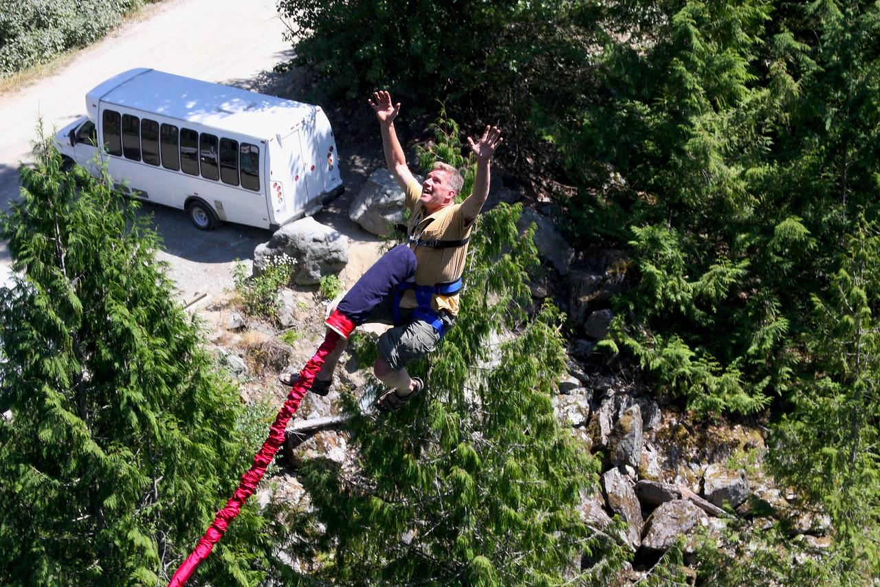 Parte de la caída de 150 m.