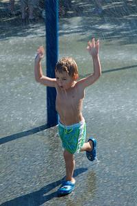 .. y el agua estaba algo fría!