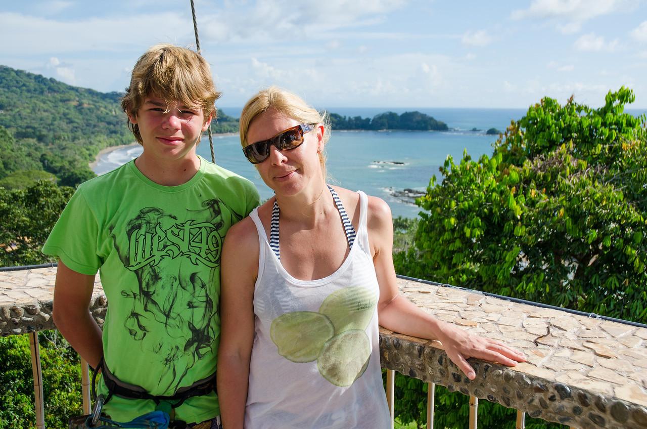Desde la plataforma del árbol de Punta Gabriela.