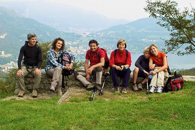 Gianni, Paula, Abbondio, Marilisa, Alfonso y Celeste