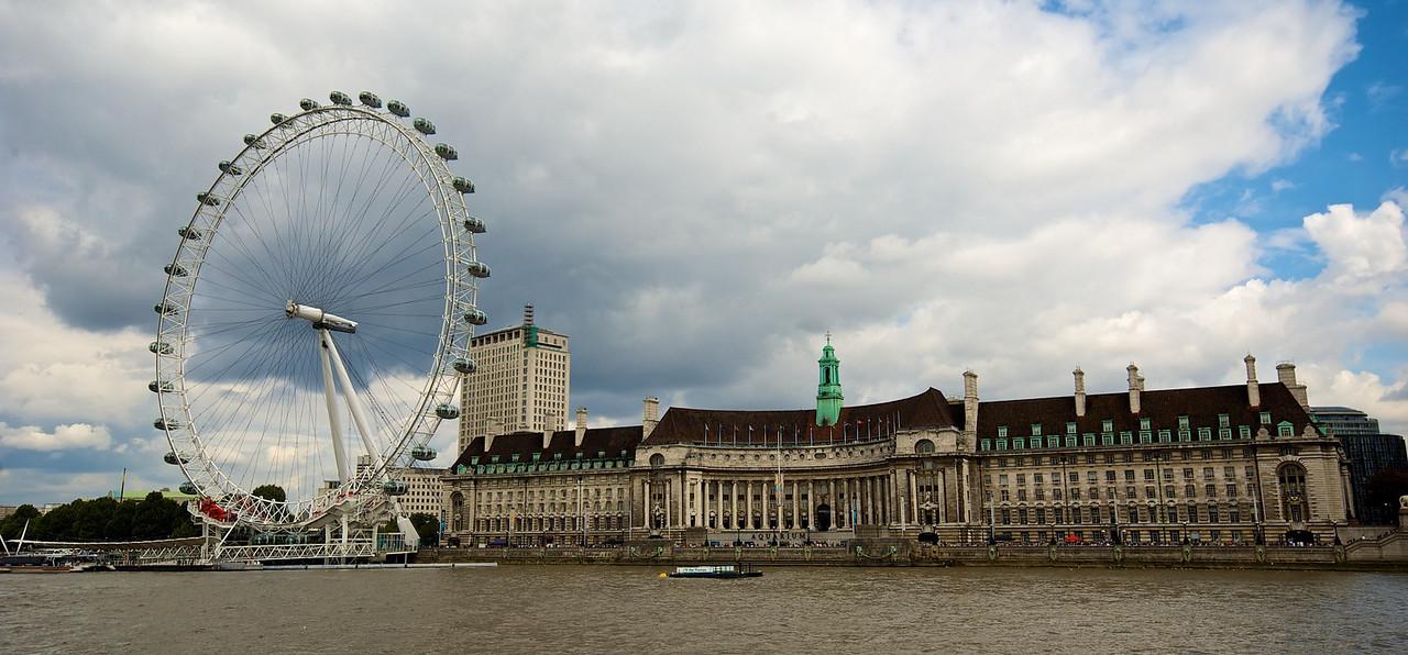 London Eye desde el río.