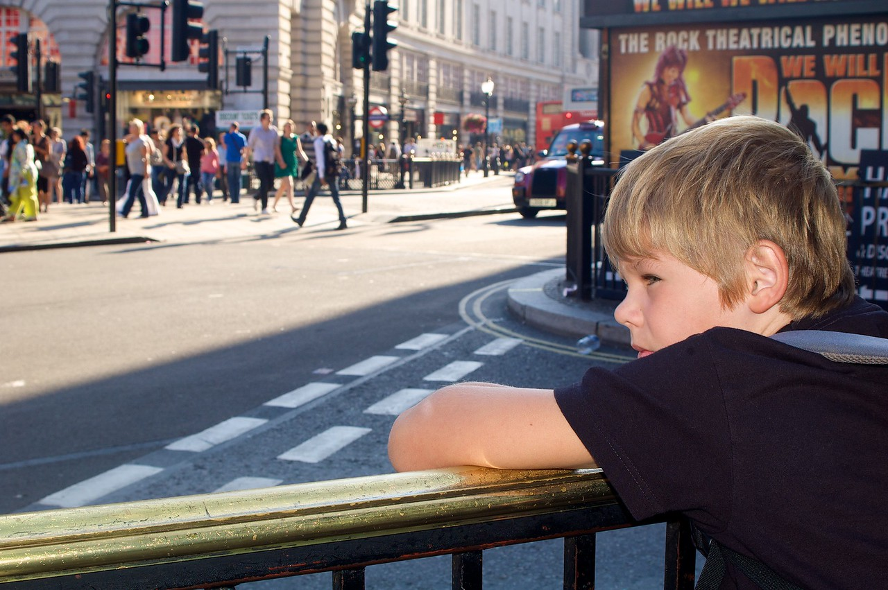 Alfonso en Piccadilly Circus